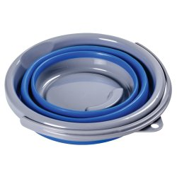 Leisure Quip 5L Foldable Bucket Blue And Grey