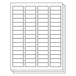 Officesmartlabels 1.75 X 0.66 Inch Rectangle Labels For Laser Inkjet Printers 60 Labels Per Sheet White 350 Sheets 21000 Labels