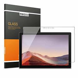 Megoo Glass Screen Protector Designed For Surface Pro 7 2019 - Ultra-thin 0.25MM For Extreme Touch Sensitivity Precise Cutouts And Works With Surface Pen