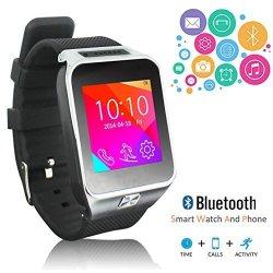 InDigi Unlocked GSM Wireless Bluetooth Smartwatch Phone Built- In Camera Micro Sim-card Slot At &t