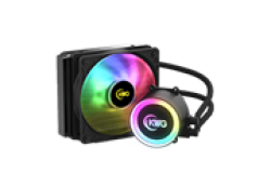 KWG Crater E1 120R Single Liquid Cooler Both Fans And Pump Can Sync With Motherboard Software Or Remote Controller Easily Access Various Lighting Effects