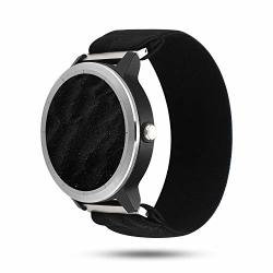 PENKEY Bands Compatible With Garmin Vivoactive 3 Band 20MM Quick Release Nylon Replacement Strap For Garmin Vivoactive 3 Music garmin Forerunner 645 Music Black Large- Fits 6.69IN-8.66IN