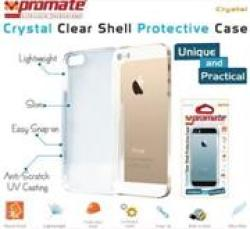 Promate Crystal -Clear Shell Protective Case For iPhone 5 5s