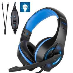 Fuleadture Gaming Headset For PS4 PC Stereo Xbox One Gaming Headset With MIC Noise Cancelling Over Ear Headphones With LED Light
