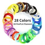 PLA 28COLORS 3D Printing Pen Filament Refill Each Color 10 Feet Total 280 Feet Extra Gift With 2 Finger Caps By Mkoem
