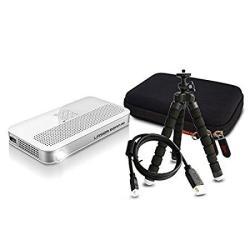 8HAOWENJU Camera Stand Professional Carbon Fiber Tripod Stable Stand Detachable Foot Portable Photography Tripod PTZ Set Color : Black