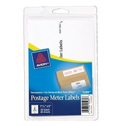 Avery Postage Meter Labels For Personal Post Office 1-25 32 X 6 Pack Of 60 5289