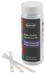 Hach 2745050 Free & Total Chlorine Test Strips 0-10 Mg l