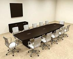 Modern Boat Shaped 14' Feet Conference Table OF-CON-C70