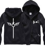 Poetic Walk Devil May Cry 5 Dmc Dante Cosplay Hoodie Jacket Large Black