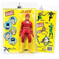 Figures Toy Company Dc Comics 8 Inch Action Figures With Mego-like Retro Cards: Flash