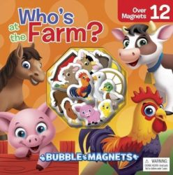 Bubble Magnet: Who's At The Farm? Book & Toy