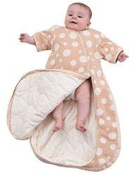 OuYun Baby Organic Sleeping Bag Detachable Sleeve Toddler Wearable Blanket Spring&autumn Small