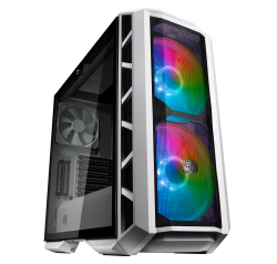 Cooler Master Mastercase H500P Atx Mesh White Tempered Glass Window 2 X 200MM Argb Fans Mesh Fro