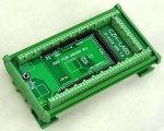 Electronics-salon Din Rail Mount Screw Terminal Block Adapter Module For Arduino MEGA-2560 R3.