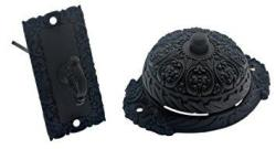 Idh By St. Simons Ornate 18055-019 Premium Quality Solid Brass Twist Bell With Key Plate Matte Black