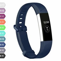 Wekin Replacement Bands Compatible With Fitbit Alta Hr And Alta Breathable Sport Silicone Wristbands Bracelet With Secure Metal Buckle For Woman Men