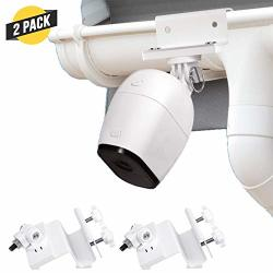 Wasserstein Weatherproof Gutter Mount Compatible With Arlo Pro Arlo Pro 2 And Arlo HD - Greater Height For Your Arlo Cameras 2 P