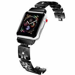 Lwsengme Compatible With Apple Watch Bands 42MM Stainless Steel Replacement Accessories Compatible With Apple Iwatch Series 3 2