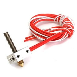 Noblik Assembled Aluminum Heating Block Extruder Hot End For 3D Printer 1.75MM MK8 0.4MM Nozzle
