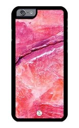 IZERCASE Iphone 6 Iphone 6S Case Pink Purple Marble Stone Image Rubber Case - Fits Iphone 6 Iphone
