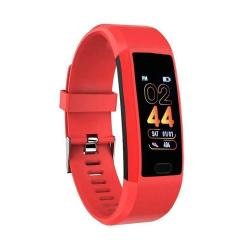 118PLUS 1.14 Inch Tft Screen Smart Bluetooth Bracelet Support Call Reminder Heart Rate Monitoring Blood Pressure Monitoring Sleep Monitoring Red