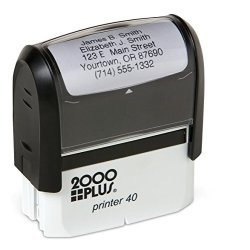 Artistic Labels Basic Personalized Self-inking Address Stamp With 5 Lines - Green Ink