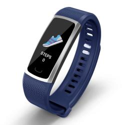 T8 0.96 Inch Tft Color Screen Smart Bracelet IP68 Waterproof Support 24H Heart Rate & Blood Pressure Monitoring Sleep Monitoring Multiple Sports Modes Call Reminder Blue