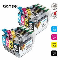 Tianse Compatible Ink Cartridge Replacement For BrOther LC3013 LC-3013XL LC3013XL To Use With BrOther MFC-J491DW MFC-J497DW MFC-J690DW MFC-J895DW Printers 8-PACK: 2BK 2C 2M 2Y