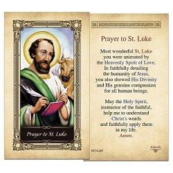 ShopCatholic St. Luke Laminated Holy Card