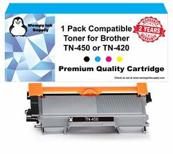 Wompy Ink Supply 1 Pack Compatible Toner TN-450 For Brother Intellifax 2840 1 Black