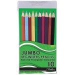 Treeline Pencil Crayons Jumbo 10'S Triangular Jumbo Grip
