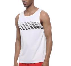 Uabrav Medium Men's Quick Dry Sleeveless Running Vest in White