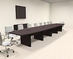Modern Boat Shaped 20' Feet Conference Table OF-CON-CP28