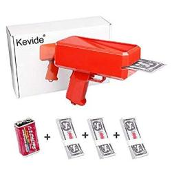 Kevide Interesting Party Game Propsmoney Gun Super Gun Cash Gun Red Money Gun Make It RAIN300 Prop Money