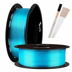 TTYT3D Shine Silk Turquoise Blue Pla 3D Printer Filament - 1.75MM 3D Printing Material 1KG 2.2LBS Spool With One Bottle Of 3D Print Tool