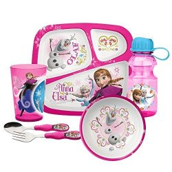 Zak Designs Mealtime Set Plate Bowl Tumbler Water Bottle Fork & Spoon With  Elsa Anna & Olaf From Frozen Bpa-free 6 Piece Set | R3340 00 | Sports and