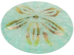 Glass Eye Studio Tropical Waters Sand Dollar Paperweight