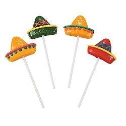 Fun Express Sombrero Suckers - Candy & Suckers & Lollipops 2-PACK
