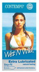 Contempo Wet 'n Wild Condoms 12'S