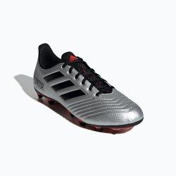 Adidas Men's Predator 19.4 Fxg Soccer Boots - Silver black