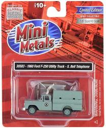 USA MINI Metals 30583 MINI METALS-1960 Ford F-250 Utility Truck Southern Bell Telephone 1:87 Scale