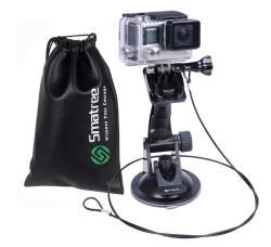 Smatree Suction Cup Car Mount Compatible For Gopro HERO7 6 5 4 3+ 3 2 1 Camera car Windshield Window dji Osmo Action CAMERA SJCAM SJ4000 SJ5000 XIAOMI
