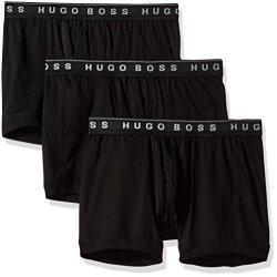 HUGO BOSS Men's Underwear Boss Hugo Boss Men's 3-PACK Cotton Boxer Brief New Black Medium