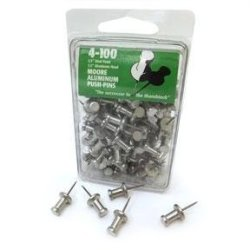 Delphi Glass Metal Push Pins - Box Of 100