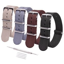 Ritche 4PC 22MM Nato Strap Nylon Watch Band Replacement Timex Expedition  Seiko SKX007K SKX009K2 Luminox Watch Straps For Men Wom d0e07aaf7
