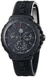 Tag Heuer Formula 1 Quartz Chronograph Black Dial Rubber Men's Watch