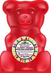 Happy Yummies Worlds Best Tasting Gourmet Gummies Super Bear Assortment 3LB