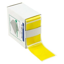 Rpi Col-r-lock Tinted See-thru Label Protectors 2 Inches X 3 Inches 250 Per Roll Yellow