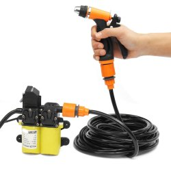 12V 100W MINI Portable Electric Washer Pump Car Washer Pump Washing Tools Set
